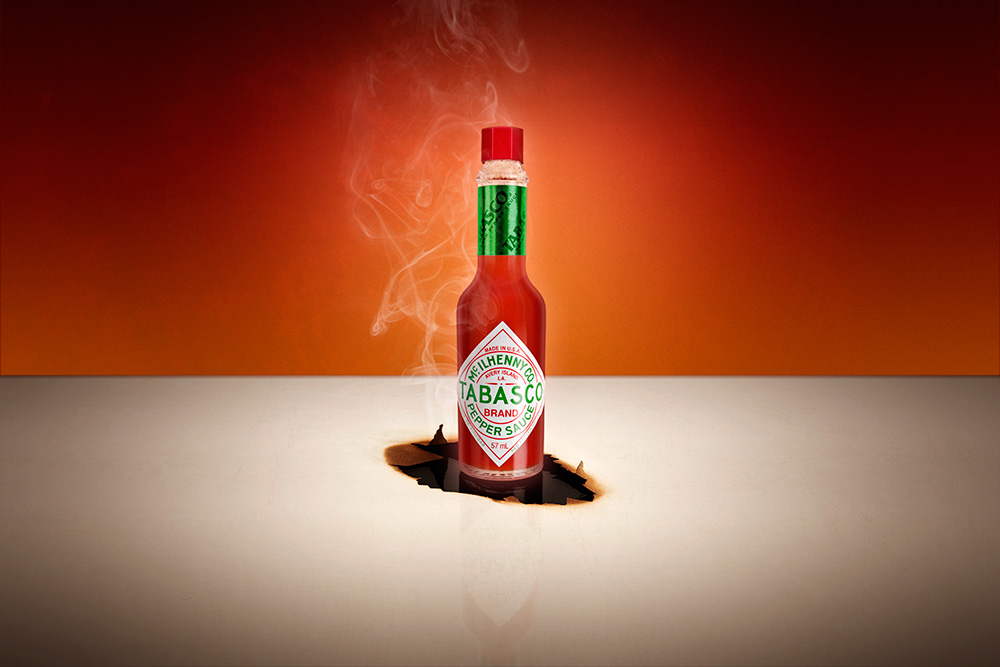 JawDesigns Tabasco sauce product photography - newbury berkshire