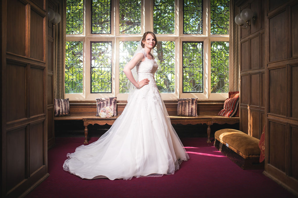 wedding photographer mill hall bride portrait interior newbury berkshire