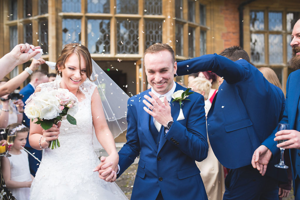 wedding photographer bride mill hall confetti interior newbury berkshire