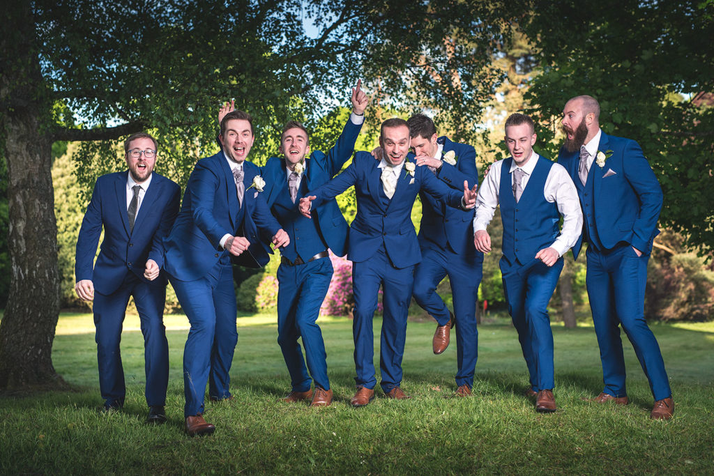 wedding photographer mill hall groom ushers best man newbury berkshire