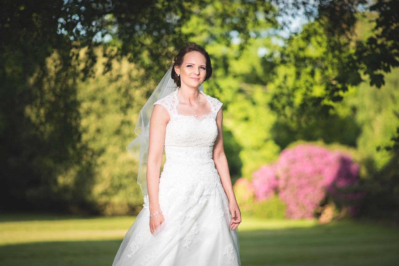 wedding photographer mill hall bride portrait gardens newbury berkshire